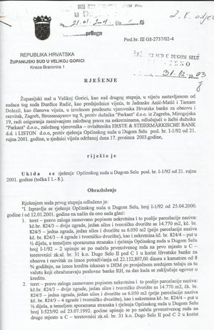 Tužba radi utvrđivanja prava vlasništva i upisa u zemljišne knjige