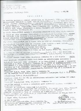 Sudsko rješenje kojim se dokazuje da je nekretnina k.č. br.  1579/3 i 1579/2  bila upisana u zemljišne knjige z.k. ul. 11 ali kao društveno vlasništvo s pravom korištenja Exportdrva