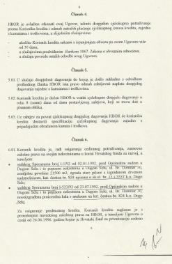 Parkant - HBOR - ugovor iz kojeg se vidi da čestica 824 ne postoji u z.k. ul. 11 a koju je HBOR imao za založno pravo
