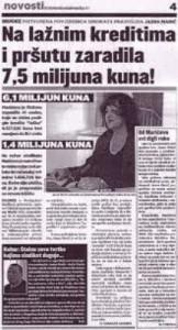 Jasna Marić (Kasun) - prijevare