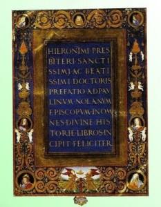 Jeronimova Biblija prevedena na latinski prijevod - Vulgata (opći, pučki)