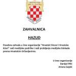 ZAHVALNICA HAZUD