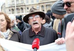 antifašisti - prosvjed na Trgu
