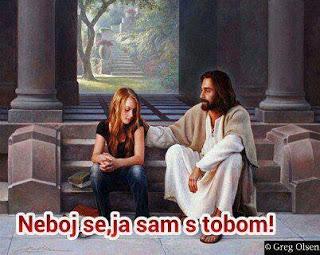 Ne boj se ja sam s tobom - Isus