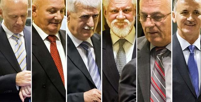 Šestorica u Haagu - Jadranko Prlić, Milivoj Petković, Bruno Stojić, Slobodan Praljak, Berislav Pušić, Valentin Čorić