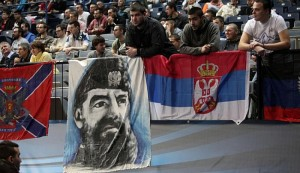 Hrvate u Beogradu dočekala slika zloglasnog četnika
