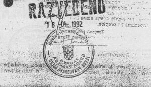 Drago Raspudić - zrcalno okrenut pečat na Ugovoru
