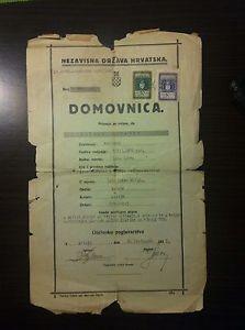 Nezavisna država Hrvatska - Domovnica 1