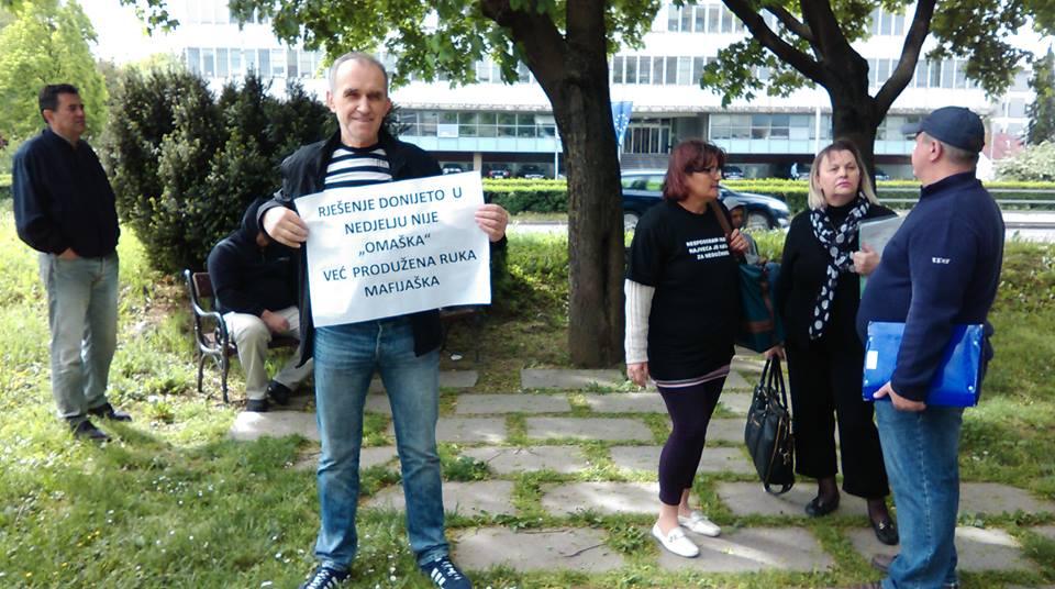 Prosvjed ispred Ministarstva pravosuđa 2