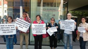 DAN EUROPE - Najava žrtava hrvatskog pravosuđa odlaska u Bruxelles