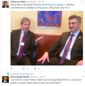 Aleksandar Vučić Plenkoviću - Dragi prijatelji hvala što podržavate Srbiju