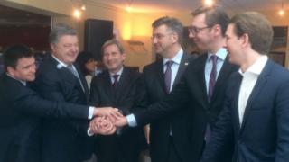 Plenković, Vučić, EU, Sebastijan Kurz, panel