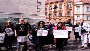 05.04.2017. - prosvjednici protiv korupcije u pravosuđu, hrvatski sabor