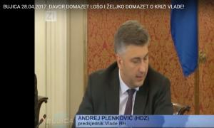 Andrej Plenković - prilog BUJICA