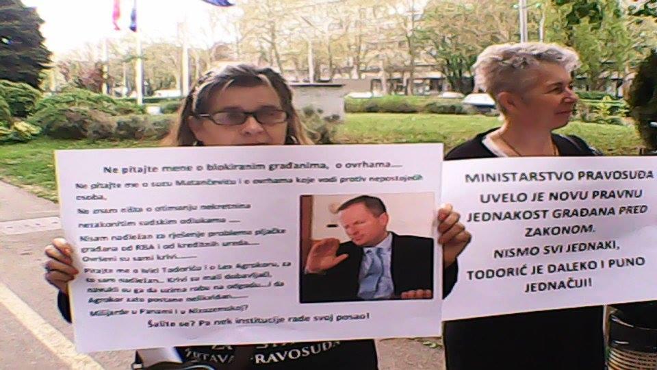 ministarstvo pravosuđa - ante šprlje - prosvjed