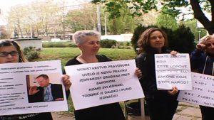 prosvjed - ministarstvo pravosuđa - raiffeisen pljačka