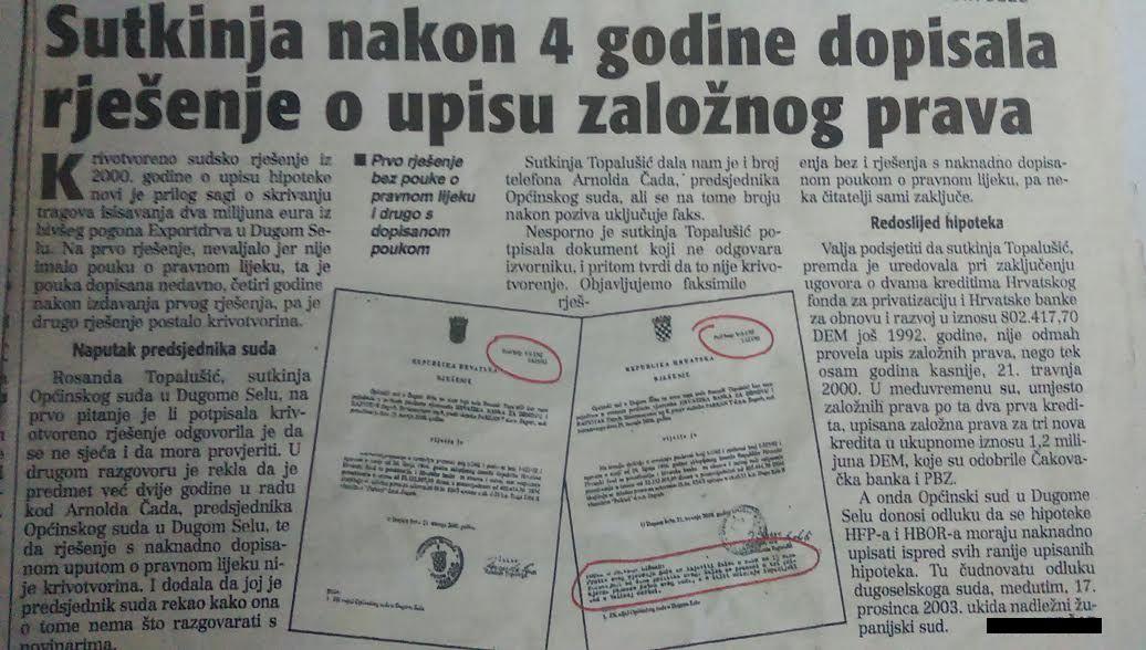 HBOR - SUTKINJA NAKON ČETIRI GODINE NADOPISALA SUDSKO RJEŠENJE-1
