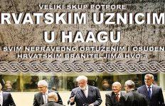 Skup potpore hrvatskim uznicima u Haagu