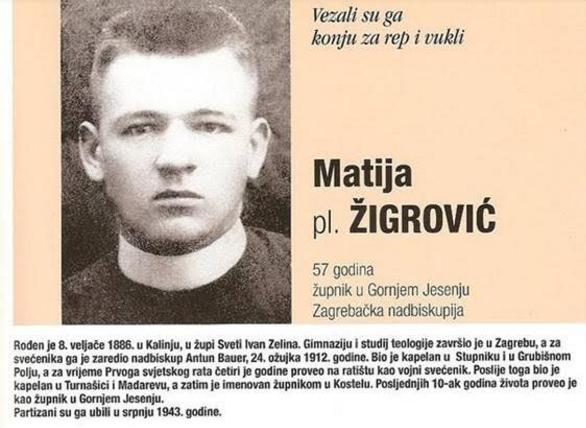 Svećenik Matija Žigrović - ubojstvo