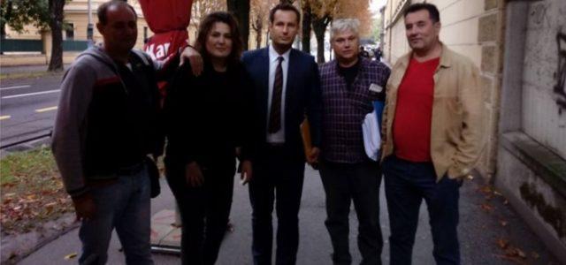 Helena Krmpotić - sa odvjetnikom Milkom Križanović i tuženima Mirko Dukić, Granoša, Koljaja
