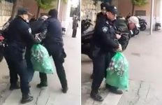 policija- nasrnula na skupljača boca