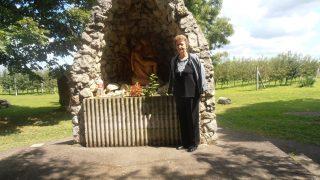 Marija Dubravac, u rodnom mjestu njenih roditelja